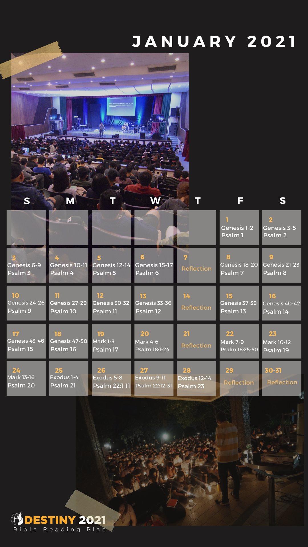 January 2021 – Bible Reading Plan