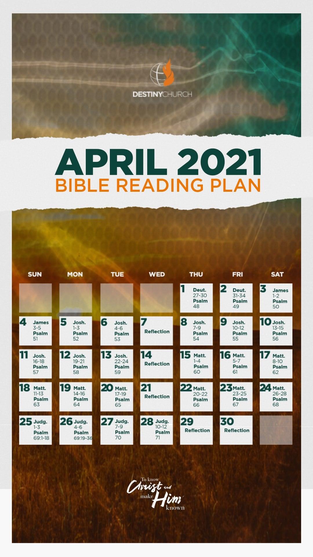 April 2021 – Bible Reading Plan